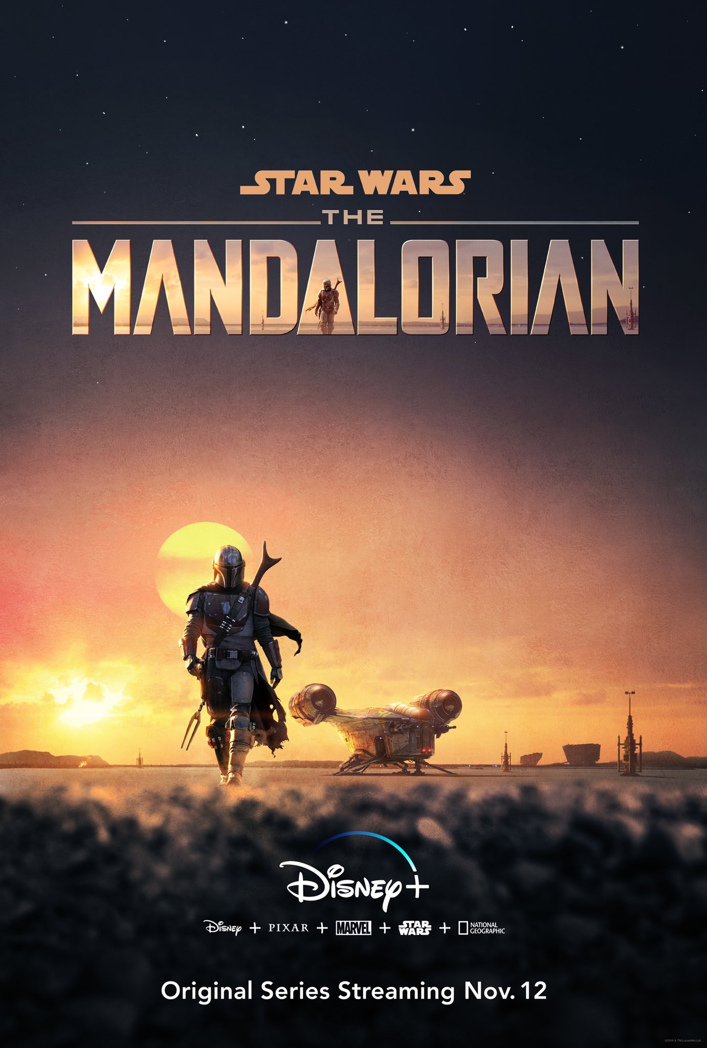 affiche Star Wars: The Mandalorian